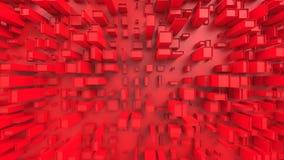 Abstrakta röda kubikstadsstrukturer - som är bästa ner sikt arkivbilder