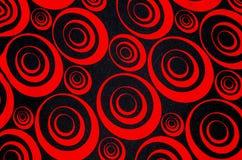 Abstrakta röda och svarta cirklar Royaltyfri Foto