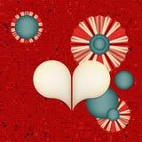 Abstrakta röda rastrerade Dots Vector Background Royaltyfria Foton