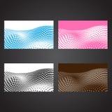 Abstrakta rastrerade affärskort Fotografering för Bildbyråer