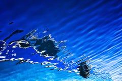 Abstrakta reflexioner på havsyttersida Arkivbild