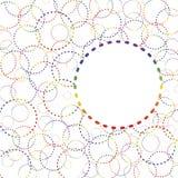Abstrakta regnbågecirklar Arkivbilder