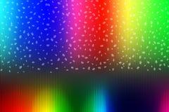 Abstrakta regnbågefärger med fallande Windows och band för bakgrund stock illustrationer
