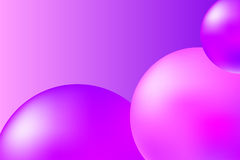 Abstrakta rosa färger och violetbakgrund med realistiska sfärer Moderiktig rosa färgabstrakt begreppillustration royaltyfri illustrationer