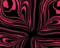 Abstrakta rosa färger på svart som marmorerar bakgrund Handgjord illustratio Arkivbilder