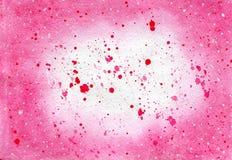 Abstrakta rosa färgfärgstänk Arkivbilder