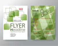 Abstrakta round zielonego kwadrata graficzny tło dla broszurki pokrywy ulotki projekta Plakatowego układu Obraz Stock