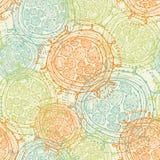 Abstrakta sömlösa former vektor illustrationer