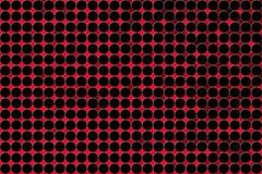 Abstrakta sömlösa svarta cirklar i suddig röd bakgrund royaltyfri illustrationer