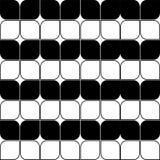 Abstrakta sömlösa svartvita Art Deco Vector Pattern Royaltyfria Foton