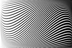abstrakta schematu Tekstura z falistymi, bałwaniastymi liniami, okulistyczny sztuki tło Falowy projekt czarny i biały ilustracja wektor
