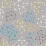 abstrakta schematu Wektorowy bezszwowy tło od trójboków i kropek Obrazy Stock