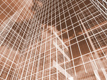 Abstrakta skyskrapor, illustration för volym 3D Royaltyfri Fotografi