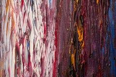 Abstrakta slaglängder för målarfärgborste Royaltyfri Fotografi