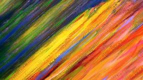 Abstrakta slaglängder för olje- målarfärg på kanfas Arkivbild