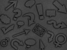 Abstrakta sociala massmediasymboler Arkivbilder