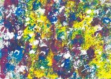 Abstrakta splodges av fett färgad akrylmålarfärg Royaltyfria Foton