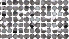 Abstrakta srebnego sześcianu geometryczna powierzchnia zbiory
