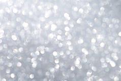 Abstrakta srebra światła bokeh tło Zdjęcie Stock