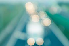 Abstrakta styl - Defocused rocznik autostrady światła Zdjęcie Stock