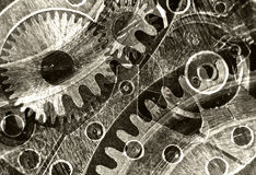 Abstrakta stylizowany kolaż machinalny przyrząd Obraz Stock