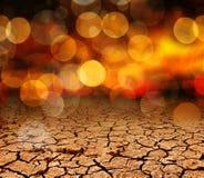 Abstrakta suchy krakingowy glebowy tło Zdjęcia Royalty Free