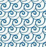 Abstrakta swirly fala, bezszwowy wzór ilustracji