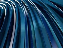 Abstrakta swirly kształta błękita tło 3d Obraz Royalty Free