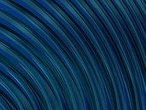 Abstrakta swirly kształta błękita tło 3d Zdjęcia Royalty Free
