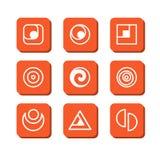 Abstrakta symboler Arkivbild