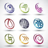 Abstrakta symboler 3 för modern stil Arkivbilder
