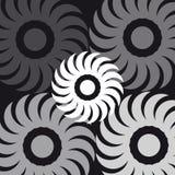 Abstrakta symboler på svart bakgrund Arkivfoton