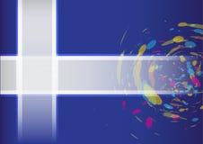 Abstrakta szczotkarski błękitny okrąg plus ramowy Wektorowy tło Obrazy Royalty Free