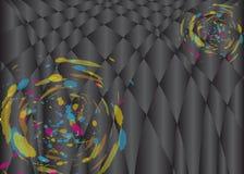 Abstrakta szczotkarski kolorowy na czarnym Wektorowym tle Zdjęcie Stock