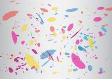 Abstrakta szczotkarski kolorowy srebny Wektorowy tło Obraz Stock