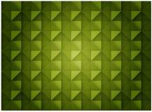 Abstrakta sześcianu luksusu Zielonego Bezszwowego wzoru Dekoracyjny projekt ilustracji