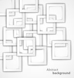Abstrakta tło kwadratowy 3D ilustracja wektor