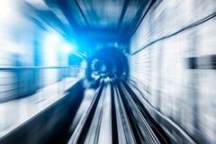 Abstrakta taborowy chodzenie w tunelu Zdjęcie Royalty Free