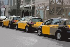 Abstrakta taxi Arkivbilder