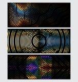 Abstrakta teknologibanermallar stock illustrationer