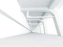 Abstrakta tomma Hall Interior Architecture Background vektor illustrationer