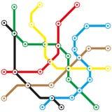 Abstrakta transportu mapa Obrazy Stock