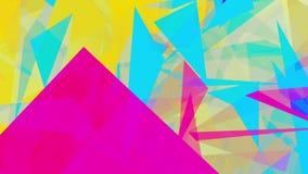 Abstrakta trianglar på guling vektor illustrationer