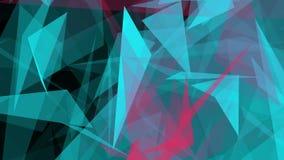 Abstrakta trianglar på svart färg stock illustrationer