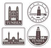 Abstrakta Tunis vektor illustrationer