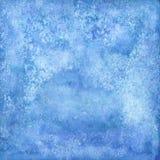 Abstrakta vattenfärgblått texturerar, isolerat på vit bakgrund Arkivbilder