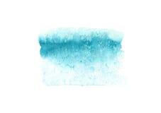 Abstrakta vattenfärgblått texturerar, isolerat på vit bakgrund Royaltyfria Foton
