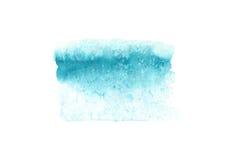 Abstrakta vattenfärgblått texturerar, isolerat på vit bakgrund Royaltyfri Fotografi