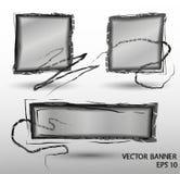 Abstrakta vektorbaner i svart färg Arkivfoto