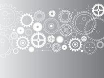 Abstrakta vektorkuggar - kugghjul på grå bakgrund Royaltyfri Foto